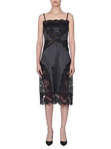 DOLCE E GABBANA Luxury Fashion Damen F6F3WTFURAGN0000 Schwarz Seide Kleid   Herbst Winter 19