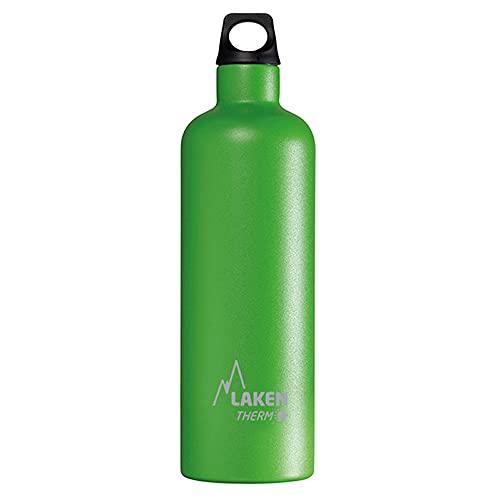 Laken Futura Thermo Borraccia, Bottiglia d'Acqua Isolamento Sottovuoto Acciaio Inossidabile, Bocca Stretta - 750 ML Verde