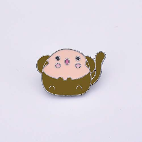 FEIYI Dragon pig dog rabbit chicken mouse monkey sheep sheep snake horse animal brooch fashion 12 style drip oil lady brooch badge pin (Metal color : Style 3)