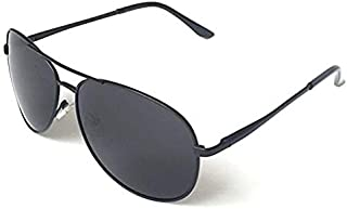 Carlson Raulen Polarized Men Women Aviator Sunglasses (Black Black)