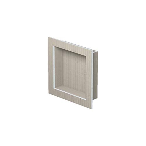 LUX ELEMENTS Vorgefertigte Nische Fertig zum Verfliesen, RELAX-NI M LREL8201, Grau, 40,6 x 40,6 cm