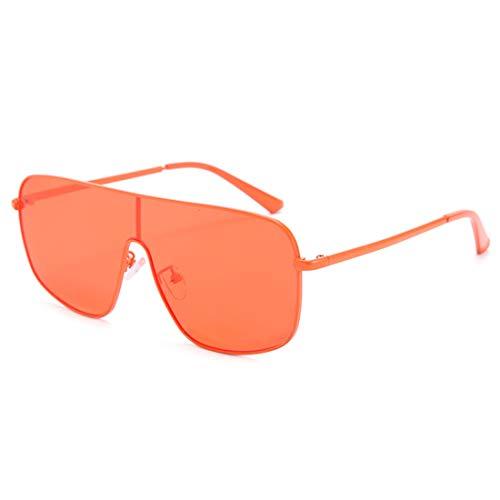 HFSKJ Gafas de Sol, Gafas de Sol de una Pieza, Gafas de Color Personalizadas, Gafas de Sol de Moda para Mujer,C