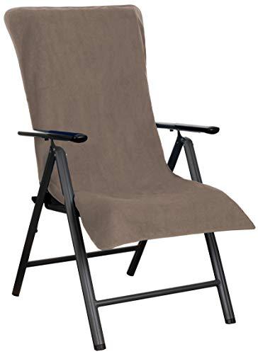 Brandsseller Frottee-Schonbezug für Gart enstuhl & Gartenliege sowie als Strandlieexaktflage - aus 100prozent Baumwolle - (Braun)