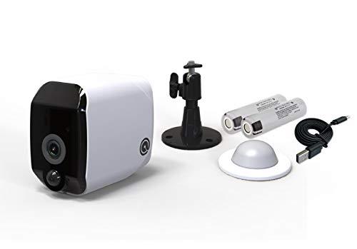 Telecamera di Sicurezza Wifi, HD 1080p (2MP), Senza Fili, Sensore di Movimento , Alimentata a Batterie Ricaricabili, Impermeabile IP65 Dadvu DV-JYBS909