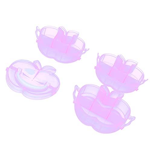 Caja de almacenamiento con forma, contenedor de almacenamiento de juguetes Diseño translúcido Diseño de cierre Cajas de almacenamiento Caja de contenedor de plástico para almacenamiento de(Pink)