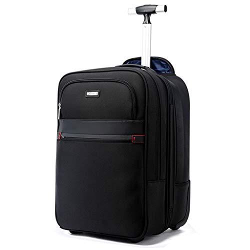 ZXM Valigia di Ricarica for Uomo d'Affari USB, Zaino da Viaggio in Tessuto di Nylon Impermeabile di Grande capacità (Colore : Nero, Size : M)