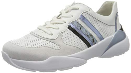 Semler Damen Uschi Sneaker, Mehrfarbig (EIS-Weiss-Schwarz-Wolke-Sky 548), 42 EU