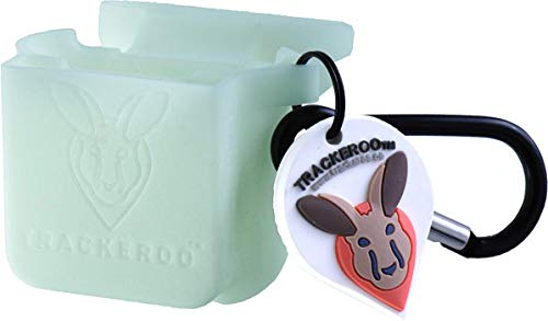 Trackeroo - Portable AirPods Case - Expandable Pouch Doubles as a Tracking Tile Case - Durable Silicone - Patent-Pending Design - Compatible with Most Popular Tile Trackers - Tracker Sold Separately