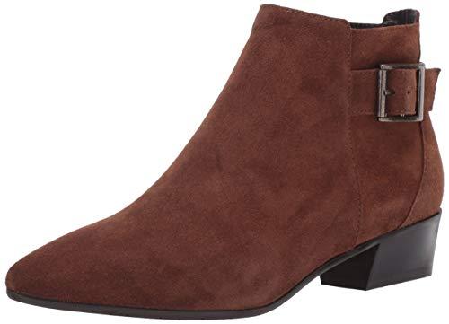 Aquatalia womens Fernn Suede Ankle Boot, Chestnut, 6.5 US