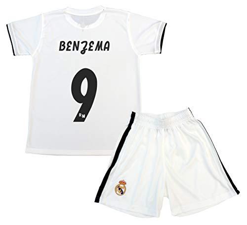 Real Madrid shirt en broek voor kinderen, officieel gelicentieerd product, seizoen 2018-2019