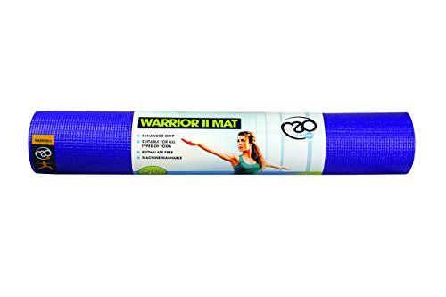 Yoga Mad Warrior II Mat Esterilla para Yoga/Pilates/Gimnasia, Unisex Adulto, Verde Lima, 4mm