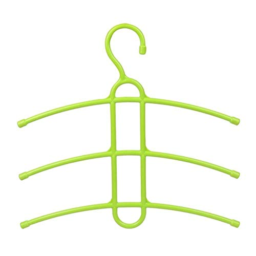 Multifunctionele meerlagige kleerhanger Type visgraat Kleding Handdoek Opbergrek Kast Hangrek Garderobe Ruimtebesparend, groen