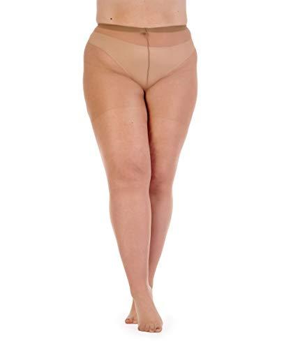 Pretty Polly Damen Strumpfhose, kurvenförmig, Übergröße - Beige - XX-Large