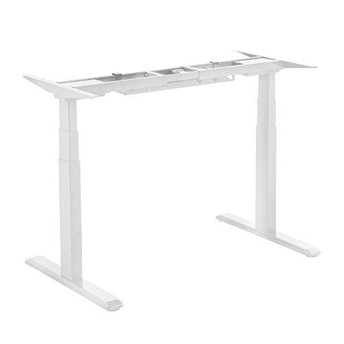 LogiLink EO0001W - Estructura de escritorio eléctrica regulable en altura (3 niveles, con doble motor, color blanco)