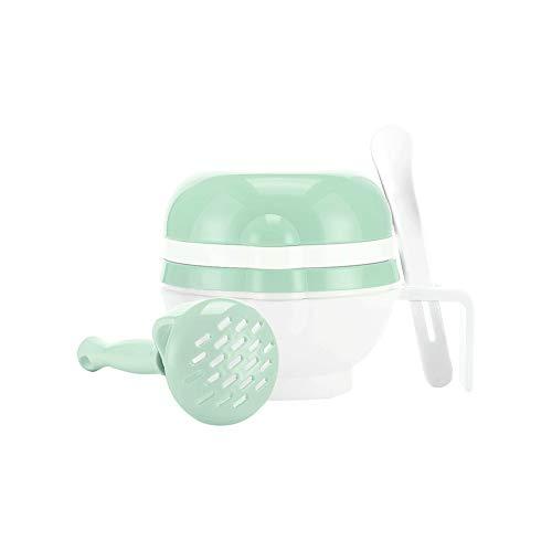 Manual multifunción Alimentación recipiente de moler los alimentos para niños Suplemento amoladora bebé Puré de cocina kit de la máquina herramienta complementaria Verde 1 Set