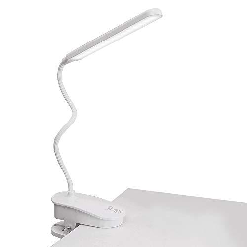 BAGZY Clip en Luz Para Leer 30 LED de Luz Suave Proteger los Ojos Luz de Libro USB Lectura Recargable Control Táctil de la Lámpara Luz de Escritorio