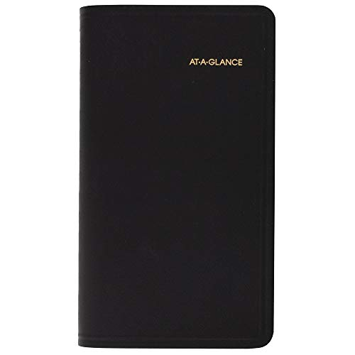 AT-A-GLANCE 2020 Weekly Pocket Planner, Appointment Book, 3-1/4u0022 x 6-1/4u0022, Refillable, Black (7000805), Model:700080520