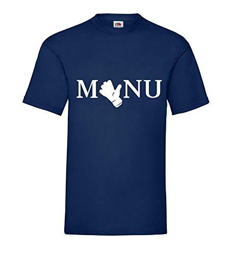 Manu Torwarthandschuh Männer T-Shirt Navy XXL - shirt84.de