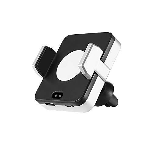 ZHJIUXING HO automatisch Wireless Charger Auto Lüftung Qi Ladestation Wireless KFZ Ladegerät 10W Induktive Ladestation Kompatibel iPhone XS/X/8 Galaxy S10/S10+/S9/S8, Andere Qi Geräte kabellos, White