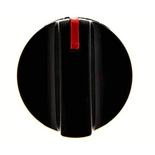Recamania Mando Grifo Gas encimera Balay Electrolux Corbero Negro diametro Eje 6 mm