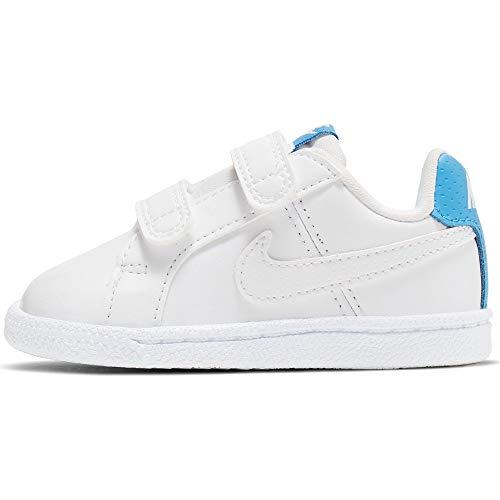 Nike Unisex Baby Court Royale (TDV) Niedrige Hausschuhe, Mehrfarbig (White/White/University Blue 000), 17 EU