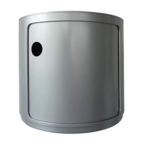 Kartell 4955SI Baukastenelement Componibili rund undurchsichtig Durchmesser 42 x 38,5 cm ABS, silber