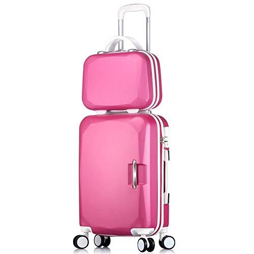 GQY Carro - Contraseña Maleta Trolley Caso Maleta Tablero de chasis - Estudiante Ruedas Pieza de Equipaje (Color : Rose Red, Size : 26 Inch)