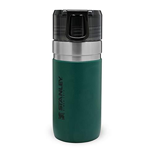 Stanley Vacuum Insulated Water Bottle Trinkflasche für kalte Getränke | Leckfreier, durchsichtiger Verschluß | BPA-frei | Spülmaschinenfest , 473ml, Moss Green