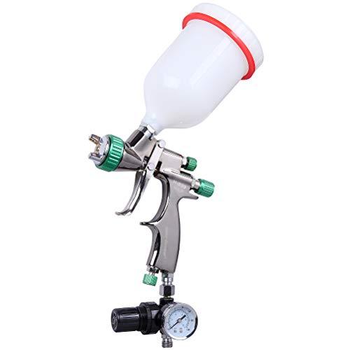 CARTMAN HVLP Gravity Feed Air Spray Gun 20.2 oz Capacity, 3.0-4.0 CFM (Cubic feet per Minute), Optimal Working Pressure 2bar/29psi, Nozzle Size:1.3mm with Air Regulator