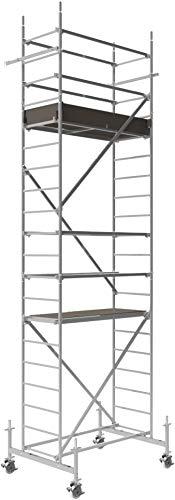 ALTEC Rollfix® 1.0 600 | 6m AH | Rollen (Ø150mm) | Standardtraverse | Made in Germany | TÜV&GS | belastbar 200kg/m² | Alu Arbeitsgerüst | Baugerüst | Fahrgerüst