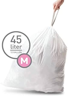 Simplehuman Bin Trash Can Bags Liners New 45l Litres Size M Box Pack of 20