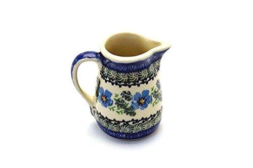 Polish Pottery Miniature Pitcher - Morning Glory