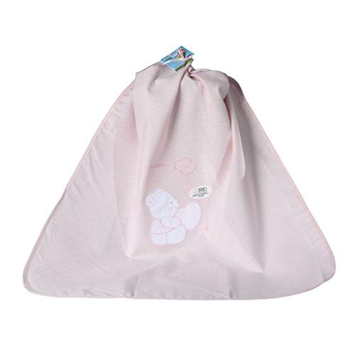 Decke Kinderbett Kinderwagen Puro Baumwolle Piqué Mein kleines Happy Bear 75x 95cm pink