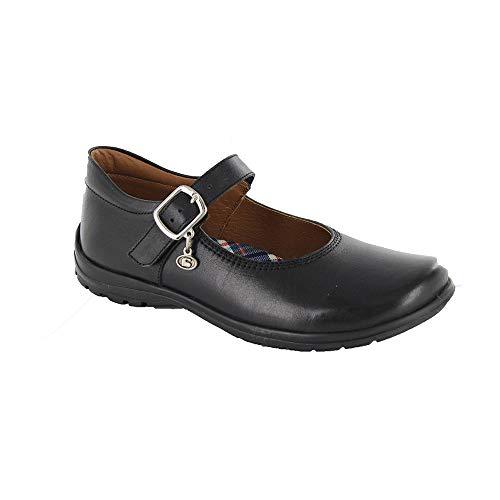 COQUETA Zapatos Escolares para Niña Fabricados En Piel En Color Negro con Ajuste De Hebilla 17