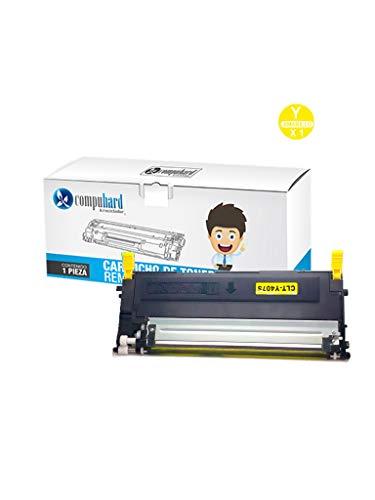 Compuhard & Reciclador Toner Alternativo Samsung CLT-K406S CLP-360 CLP-365 CLP-365W CLX-3305 CLX-3305FN CLX-3305FW Xpress C410W C460FW 1,500 Impresiones (Negro)