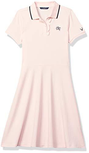 Allen Solly Junior Polycotton A-Line Dress (AGDRCRGFD81868_Pink_8)