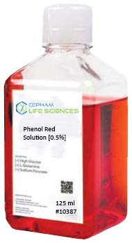 Phenol Red Solution 0.5% 125 mL Cepham NEW before selling ☆ Classic -from 10387 Scie Life