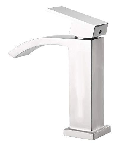 Massiv Edelstahl Bad Badezimmer Waschbecken Waschtisch Armatur Wasserhahn Sanlingo