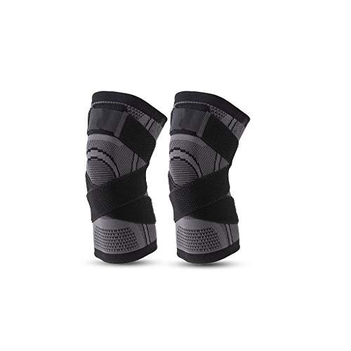 RWX 2 Paare Gestrickte Warme Kniepads, rutschfeste Sport-Fitness-Basketball-Volleyball-Kniebretten, Entlasten Arthritis Und Schmerzen (Größe : XXX-Large)