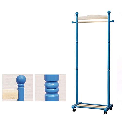 YLCJ Coat hanger Mobiele paal kleerhanger Woonkamer Slaapkamer kapstok (Blauwe kleur)