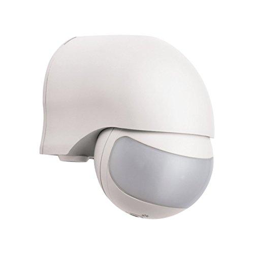 ELRO LP1520 Bewegungsmelder - Geeignet für den Außeneinsatz - Erfassungswinkel 200° - Erfassungsbereich 12 Meter - Weiß - 9 x 6 x 9 cm
