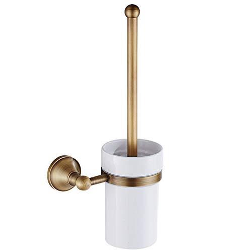 Mlamat WC-borstelset, Europese luxe antieke bronzen toiletborstelhouder, wandmontage, messing badkameraccessoires, badkamer Toiletpot Borstels Reiniging Schrobben