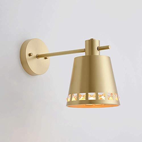 OUPPENG Moderna de Estilo Europeo Moderna minimalista Todo-cobre lámpara de pared de dormitorio de noche rotativo LED de la lámpara de la sala Comedor lámpara de cristal de la lámpara de pared Corredo