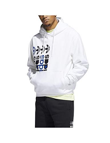 adidas FRM Hoody Sport Jacket, White, XL Men