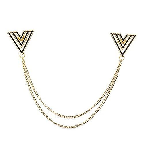 hongruida Broche de perlas para mujer, diseño retro, con borla de moda, para camisa, cuello de moda, ropa simple, accesorios para mujeres y hombres (color metálico: 4)