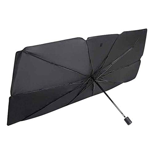 125 * 65cm Sombrilla Paraguas del Coche,Parasol Coche Delantero Protector Parasol Sombrilla per Coche Lunas Delanteras,Parasol para Parabrisas Protecci/ón,Parasol Delantero
