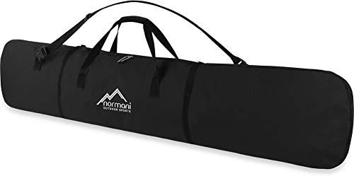 normani Snowboardtasche 166 cm - mit Tragegurt + Schultergurt, doppelter Polsterung, Adressfeld Farbe Schwarz