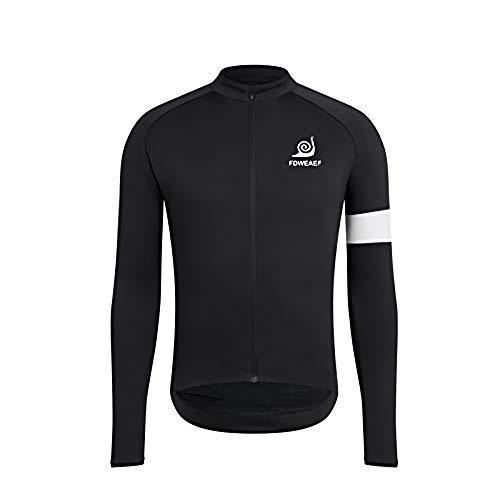 Jerseys de Ciclismo para Hombre, Jersey de Ciclismo de Manga Larga para Hombre Camisas de Bicicleta de Secado rápido Jerseys de Bicicleta de montaña Bolsillos de Ropa MTB Primavera Otoño 5XL