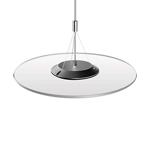 KJLARS LED dimmerabili lampada a sospensione tondo design lampadari moderni lampada da ufficio, lampada di pannello, tavolo da pranzo per appendere, ufficio, studio, soggiorno camera Plafoniera 24W