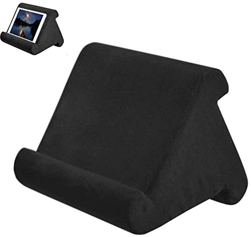 Aokeou Soporte de Almohada para Tablet, Multi-Angle Soft Pillow Lap Stand iPad Tablet Stand Pillow Holder Phone Pillow Lap Stand para Varios Modelos de tabletas o telefonos moviles (Negro)